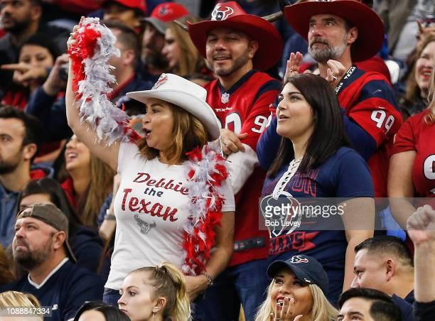 Houston Texans fans cheer on the team during the fourth quarter against the Jacksonville Jaguars at NRG Stadium on December 30 2018 in Houston Texas