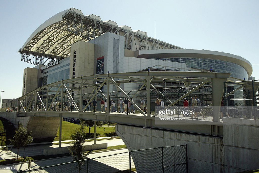 Houston Texans Fans Cross The Bridge To Reliant Stadium Before A Game  Against The Jacksonville Jaguars