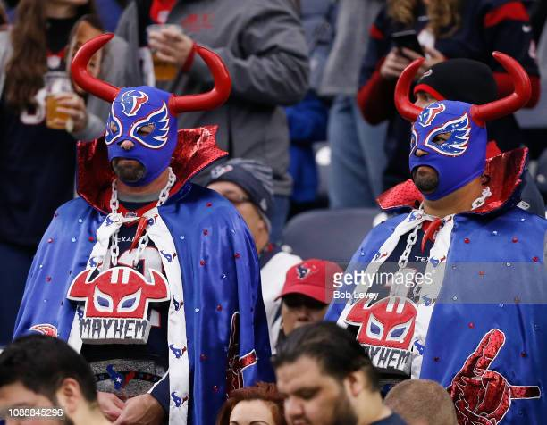 Houston Texans fans get ready for a game against the Jacksonville Jaguars at NRG Stadium on December 30 2018 in Houston Texas