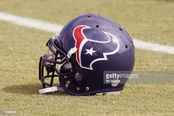 Houston Texans helmet is shown during Houston Texans mini camp on May 22 2006 in Houston Texas