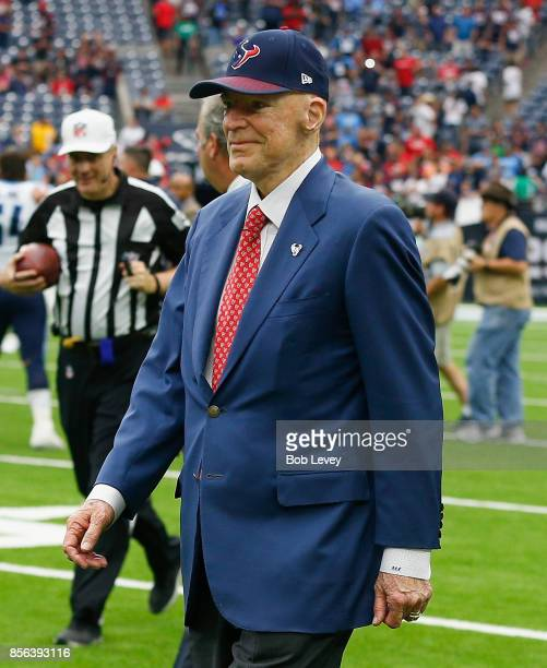 huge selection of 16ad7 4fb7e Houston Texans owner Bob McNair walks on the field at NRG Stadium on  October 1 2017