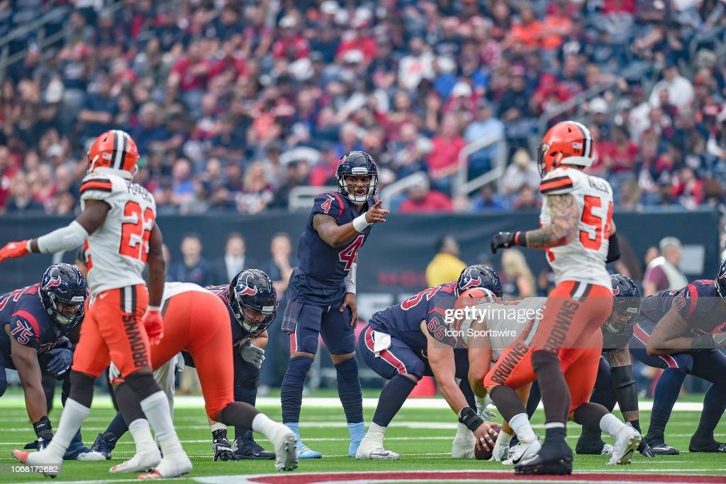NFL: DEC 02 Browns at Texans : News Photo