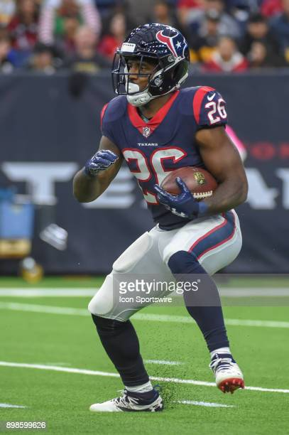 Houston Texans running back Lamar Miller looks for running room during the football game between the Pittsburgh Steelers and Houston Texans on...
