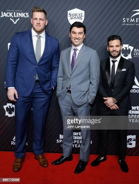 Houston Texans Sportsperson of the Year JJ Watt Time Inc Chris Stone and Houston AstrosSportsperson of the Year Jose Altuve and attend 2017 Sports...