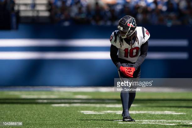 Houston Texans wide receiver DeAndre Hopkins lines up before the snap during the NFL game between the Indianapolis Colts and Houston Texans on...