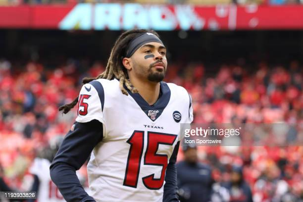 Houston Texans wide receiver Will Fuller before an NFL Divisional round playoff game between the Houston Texans and Kansas City Chiefs on January 12,...