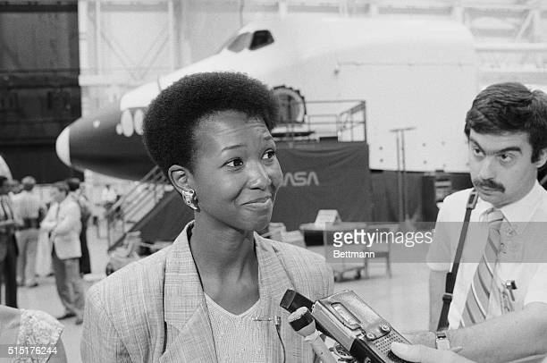 Mae C Jemison a Los Angeles doctor who is the first black female named to the astronaut corps says I'm not afraid of being in the program I have...