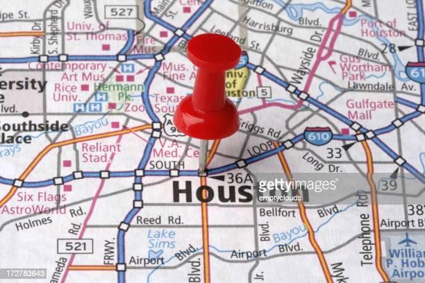 Houston, Texas on a map.