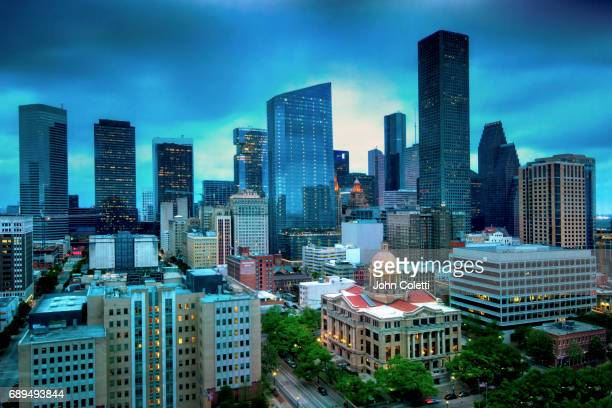 houston, texas - geometrical architecture stock photos and pictures