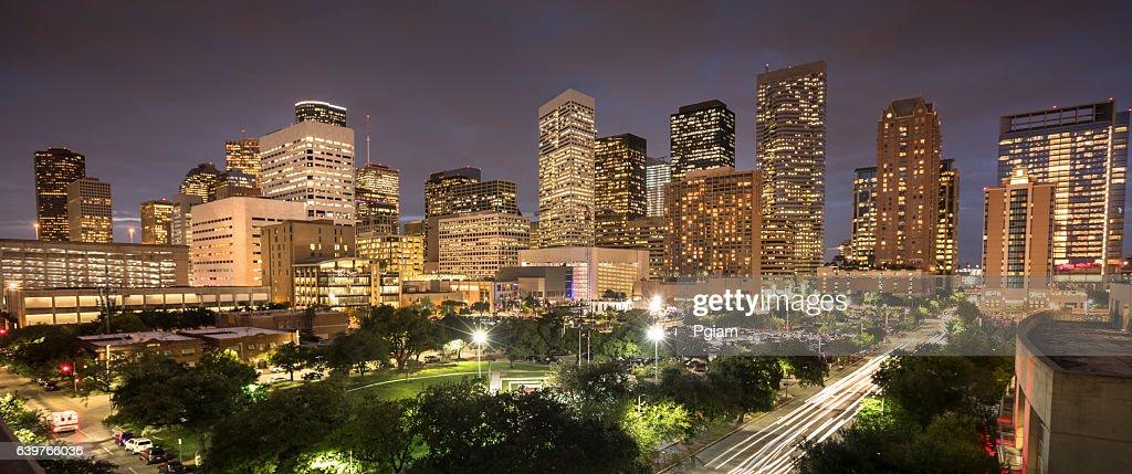Houston Texas skyline panorama : Stock Photo