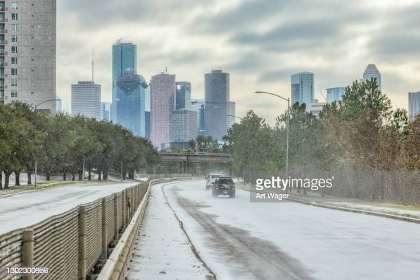 houston texas winter storm - texas stock pictures, royalty-free photos & images