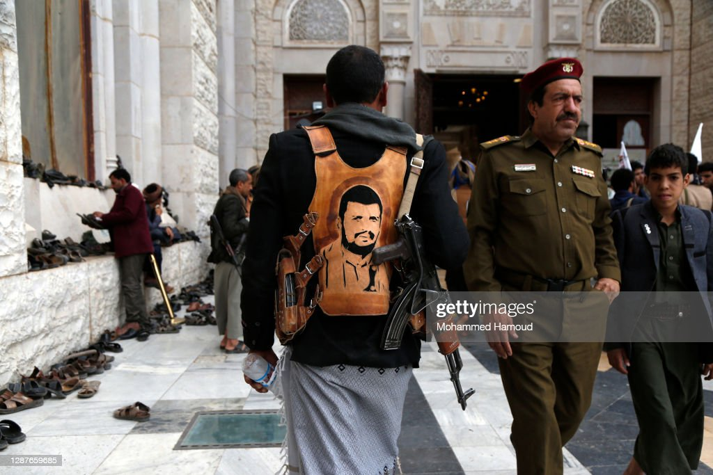 Yemen Houthi Fighters Funeral Procession In Yemen 2020 : News Photo