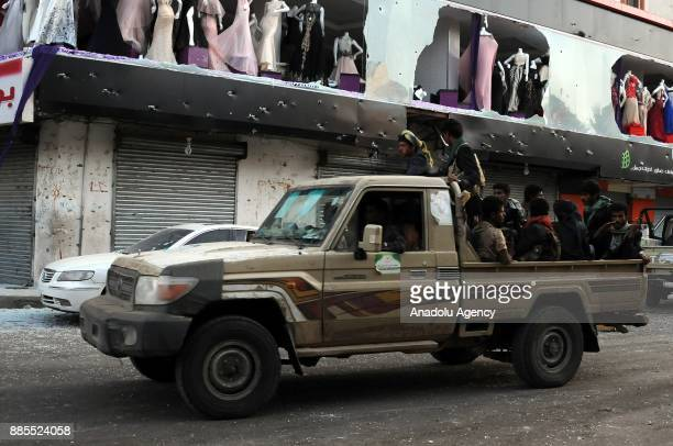 Houthis take security measures as they build up checkpoints at Former Yemeni President Ali Abdullah Saleh's residential building in Hadda...