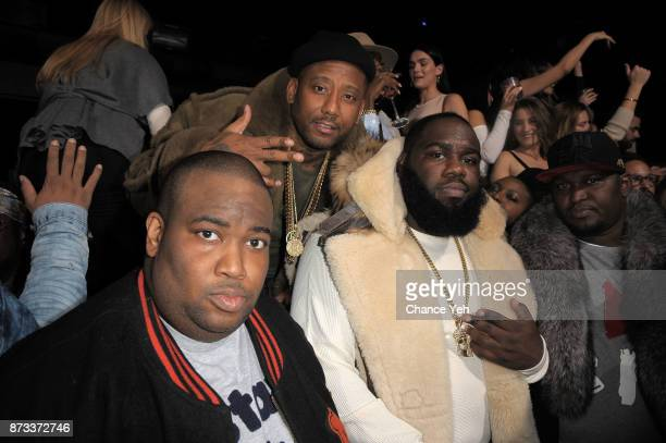 Hovain Hylton Maino and guest attend TPain's performance during Sunset Saturday at PhD Dream Downtown Hotel Rooftop on November 11 2017 in New York...