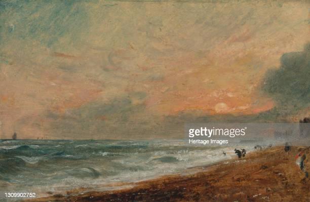 Hove Beach, 1824 to 1828. Artist John Constable. .