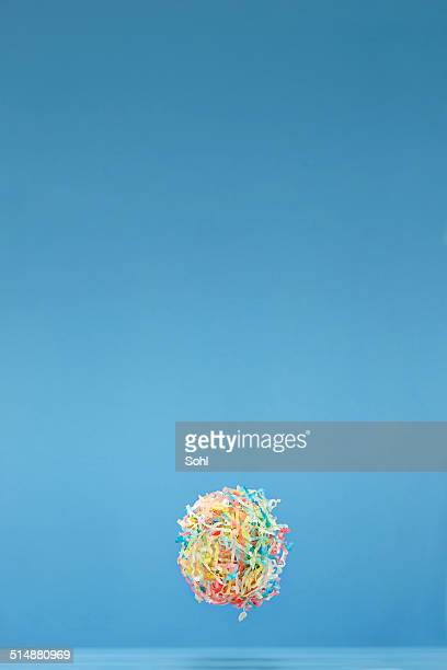 Schweben Konfetti Hintergrund
