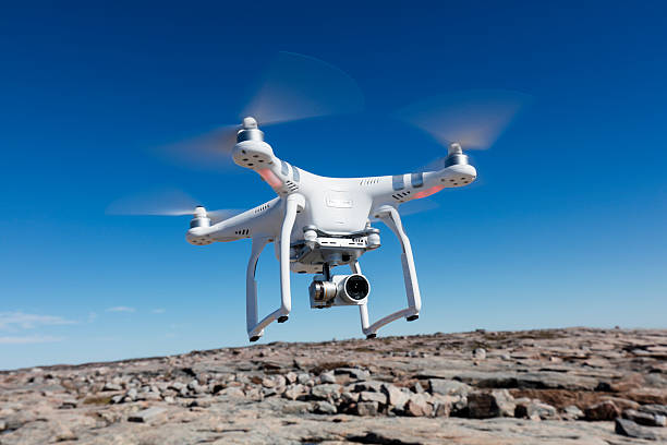hovering drone nunavut territory canada picture