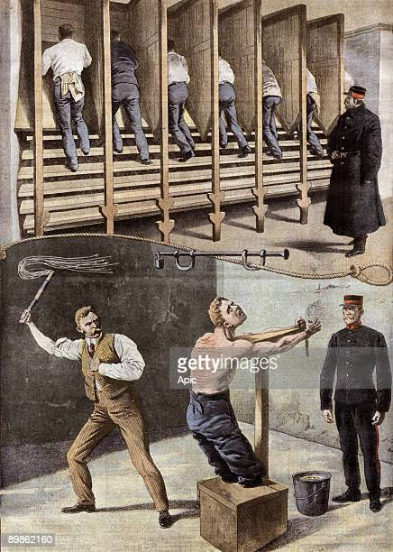 how are treated delinquents in foreign countries here in England hard labour and corporal punishment illustration from Le Petit Journal november 3...