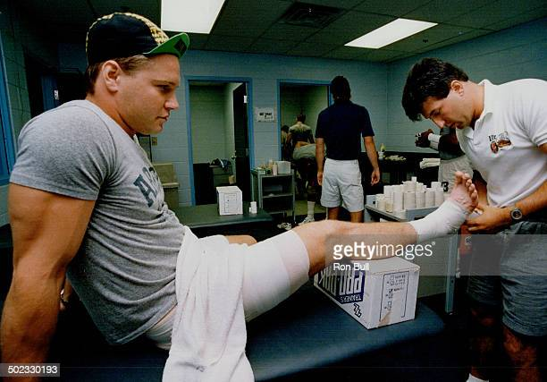 How did his ankle come through the final test One guy even stepped on it and I didn't feel a thing he said
