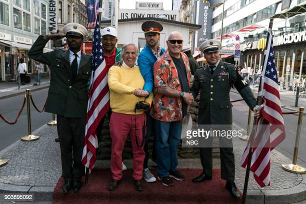 NEVER 'How Do You Say Roots in German' Episode 202 Pictured George Foreman Henry Winkler Jeff Dye Terry Bradshaw