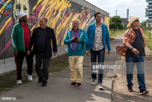 NEVER 'How Do You Say Roots in German' Episode 202 Pictured George Foreman William Shatner Henry Winkler Jeff Dye Terry Bradshaw