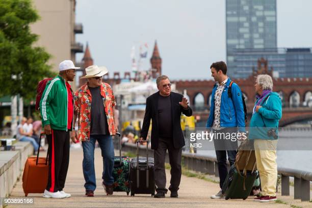 NEVER 'How Do You Say Roots in German' Episode 202 Pictured George Foreman Terry Bradshaw William Shatner Jeff Dye Henry Winkler