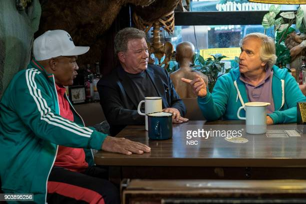 NEVER 'How Do You Say Roots in German' Episode 202 Pictured George Foreman William Shatner Henry Winkler