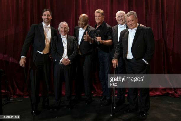 NEVER 'How Do You Say Roots in German' Episode 202 Pictured Jeff Dye Henry Winkler George Foreman David Hasselhoff Terry Bradshaw William Shatner
