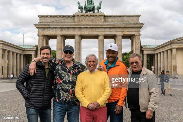 NEVER 'How Do You Say Roots in German' Episode 202 Pictured Jeff Dye Terry Bradshaw Henry Winkler George Foreman William Shatner