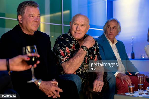 NEVER 'How Do You Say Roots in German' Episode 202 Pictured William Shatner Terry Bradshaw Henry Winkler