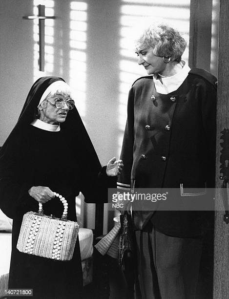 "How Do You Solve a Problem Like Sophia?"" Episode 8 -- Pictured: Kathleen Freeman as Mother Superior; Bea Arthur as Dorothy Petrillo Zbornak-- Photo..."