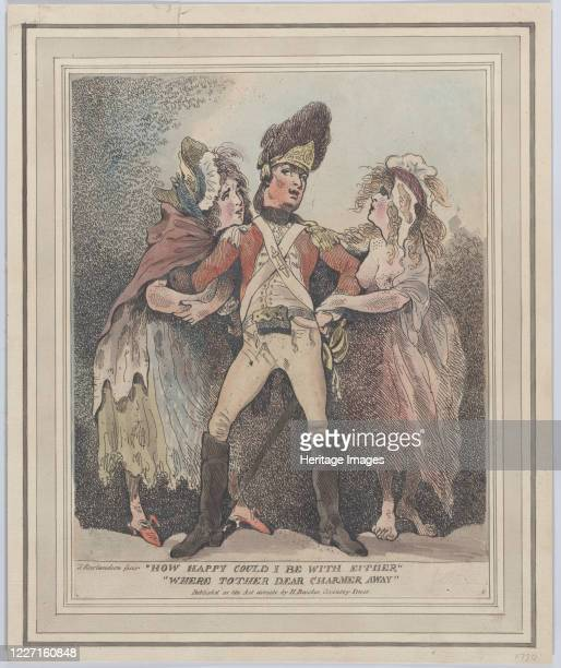 How Happy Could I Be With Either Were t'Other Dear Charmer Away [1784] Artist Thomas Rowlandson