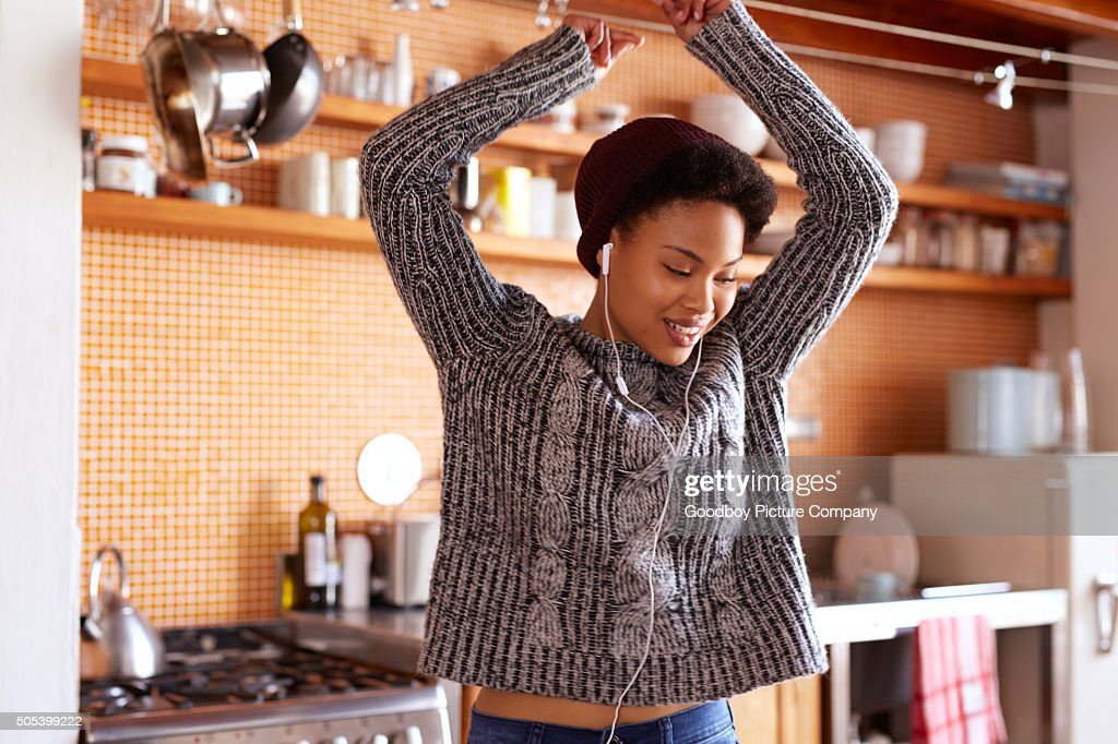How I feel when my favorite song comes on : Stock Photo
