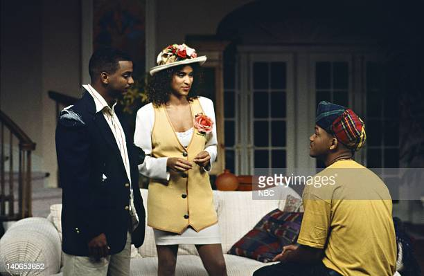 AIR How I Spent My Summer Vacation Episode 1 Pictured Alfonso Ribeiro as Carlton Banks Karyn Parsons as Hilary Banks Will Smith as William 'Will'...