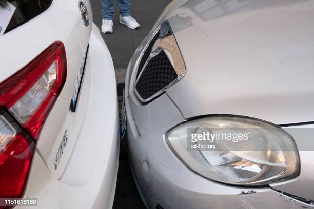 how italians park their cars - bumper stock pictures, royalty-free photos & images
