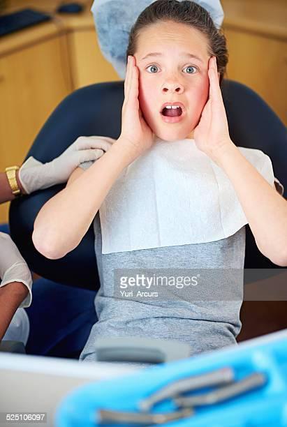 how many cavities??? - dentist horror stockfoto's en -beelden