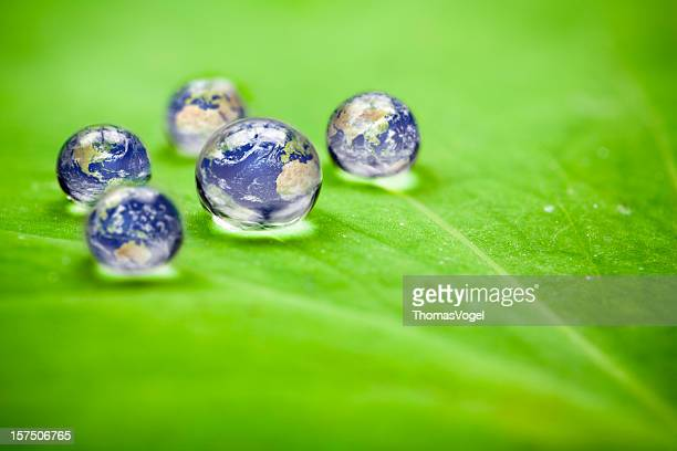 How many earths do we have? Planet earth waterdrops