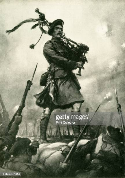 How Piper Laidlaw won the Victoria Cross on September 25 1915' 'Playing the 7th King's Own Scottish Borderers out of their trenches at the Battle of...