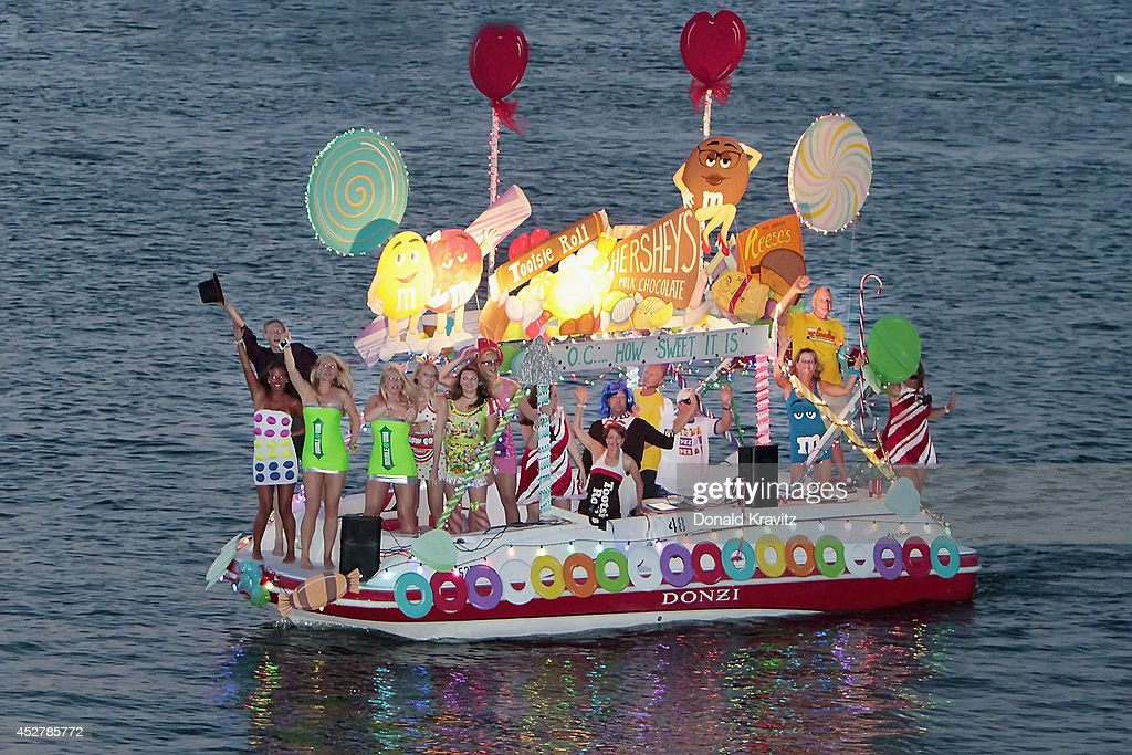 The 60th Annual Night In Venice Boat Parade : News Photo
