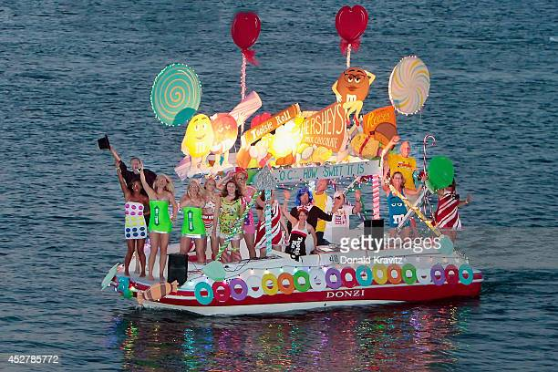 How Sweet It Is attends the Night In Venice Boat Parade at Back Bay of Ocean City on July 26 2014 in Ocean City New Jersey
