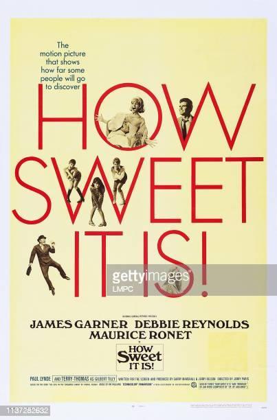 How Sweet It Is poster US poster top from left Debbie Reynolds James Garner bottom from left TerryThomas Alexandra Hay 1968
