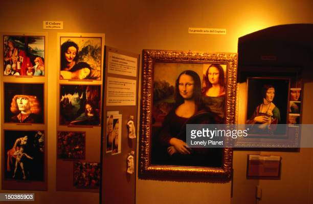'how to detect fake paintings' display at museo d'arte e scienza at via quintino sella 4. - arte stock pictures, royalty-free photos & images