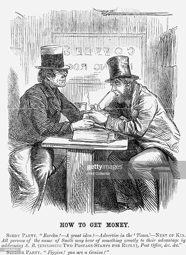 'How to Get Money', 1859. : News Photo