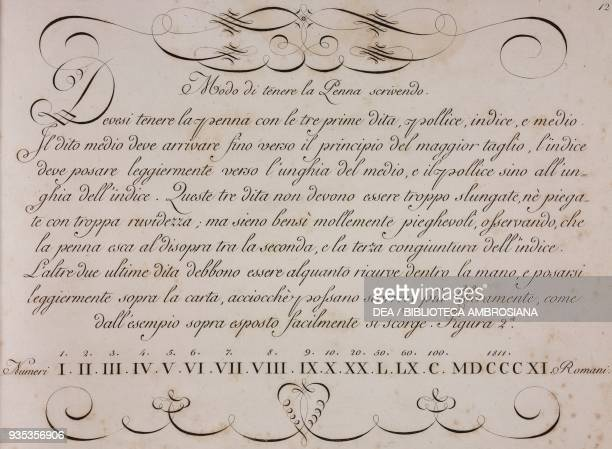 How to hold a pen engraving from the Book of character in accordance with the taste the most modern and most generally practiced by accountants...