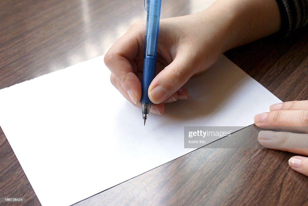 how to hold a pencil : Stock Photo
