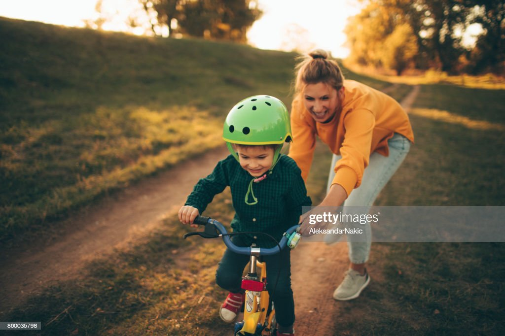 How to ride a bike? : Stock Photo