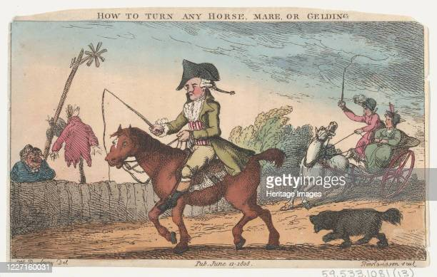 How to Turn Any Horse Mare or Gelding June 11 1808 Artist Thomas Rowlandson
