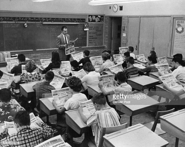 MAR 7 1962 MAR 9 1962 'How to Use a Newspaper' At Knapp Elementary School 500 S Utica St 'nearly all sixth graders read The Denver Post' Richard...