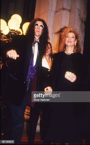 Howard and Alison Stern attend the wedding of Marla Maples and Donald Trump held at the Plaza Hotel New York 1993