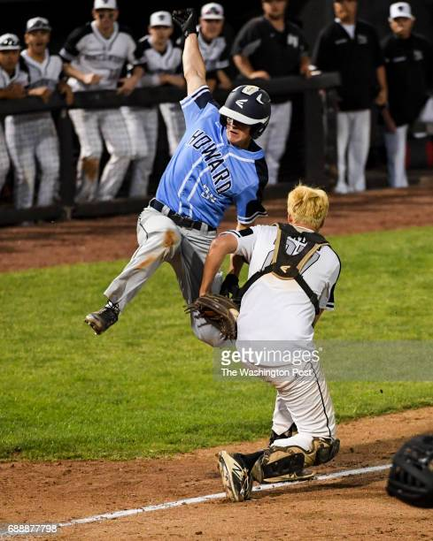 Howard baserunner Brendan Foster is tagged out by Northwest catcher Alex Madoo as he tries to tag up but was doubled out ending a bases loaded threat...